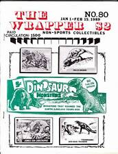 THE WRAPPER #80 - 1989 Non-sports cards fanzine - DINOSAUR cards, TV GAMES