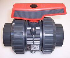 """63mm PVC U Válvula de bola DN 50 2"""" PN16 PE EPDM en DE CALIDAD SUPERIOR #666"""