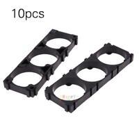 10pcs 32650 3x Battery Holder Plastic Bracket Cell Safety Anti Vibration Black