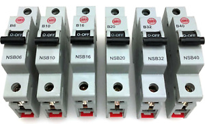 Wylex NSB06 NSB10 NSB16 NSB20 NSB32 NSB40 Type B Single Pole Circuit Breaker MCB