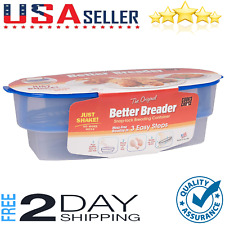 Original Better Breader Batter Bowl- All-in-One Mess Free Breading Station Tray