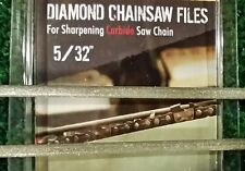 "5/32 Diamond Chainsaw file 5/32"" for Carbide chain 2 pack"