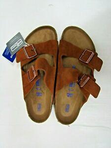 BNIB Birkenstock Tan Suede Arizona Unisex Sandals Size 42 / UK 8 Regular Fit