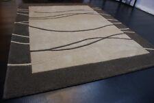 nr 526 Modern Teppich Handtufted Beige Braun aus Wolle ca 200 x 150 cm Neu