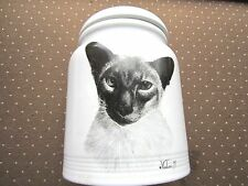 "Rosalinda Porcelain Cat/Dog treat Cookie Jar, Best of Show 10"" tall"
