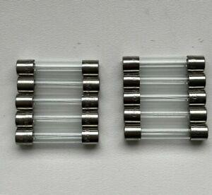 10 x 500mA Slow Blow 32mm Fuses 250v Glass Fuse 0.5A - Freepost UK