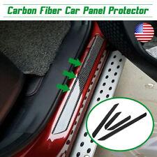 4Pcs Carbon Fiber Car Door Scuff Sill Cover Plates Panel Step Protector Sticker