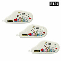 BTS BT21 Official Authentic Goods Scotch Correction tape 3ea SET + Tracking #