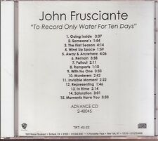 john frusciante to record only water for ten days cd limited edition