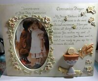 "Remembrance of Our First Holy Communion 4x6"" Picture Frame With Communion Prayer"