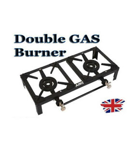 Double Gas Burner Cooker Boiling Ring-Propane Outdoor Garden Camping 10kw LPG