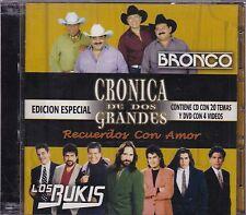 Bronco y Los Bukis Cronica de dos Grandes CD+DVD New Sealed Nuevo