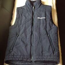 mens body warmer/ gilet,in navy blue,size medium,by budweiser,
