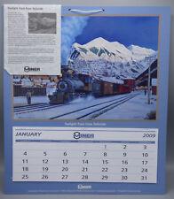 2009 Miner Enterprises Railroad Calendar Twilight Train from Telluride