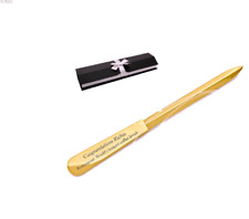 PERSONALIZED GOLD LETTER OPENER CUSTOM ENGRAVED FREE