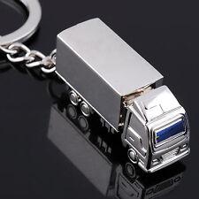 Mini Fashion 3D silver color Truck Key Chain Car  Symbol Key Ring  Free Shipping