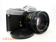 MINOLTA XD5 35MM SLR CAMERA + MD ROKKOR 50MM F1.7 LENS EXCELLENT