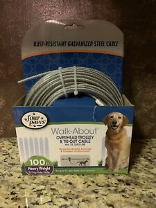 Four Paws Walk-About Overhead Trolley 100ft - New -