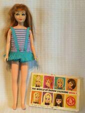 Vintage 1967 Barbie Skipper Doll TWIST 'N TURN TNT #1105 Red Hair Swimsuit Japan
