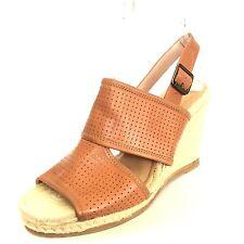 Biala Womens Joyce Espadrille Wedge Sandals Brown Leather EU 41 RP $120*