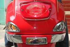 VESPA LX 50 125 150 LX50 LX125 LX150 REAR SIGNAL LIGHT TRIM CHROME COVER RAILS