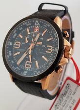 SWISS MILITARY HANOWA Chronograph Chrono Uhr Arrow ace Lederband 06-4224 NEU 52
