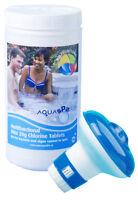 1kg Aquasparkle Multifunctional Chlorine Tabs & Dispenser Hot Tub Swimming pool
