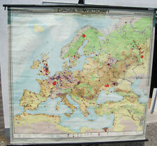School Wall Map Wall Chart Map Europe economy Europe 1960 3mio approx 195x184cm