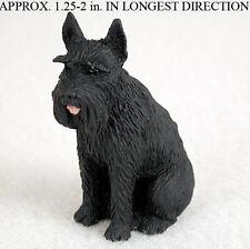 Schnauzer Mini Hand Painted Figurine Black Giant