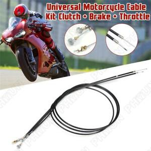 Motorcycle Cable Kit Clutch Cable + Brake Cable + Throttle Cable Kit Universal