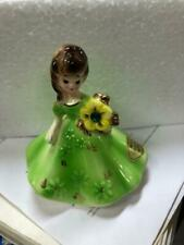 """Vintage Collectible Josef Originals Figurine 4"""" Tall green real nice take a look"""