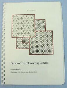 Openwork Needleweaving Patterns Whitework Instruction Book by Luzine Happel