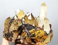 3.4lb Natural Hematite/Specularite&Quartz Crystals Cluster Minerals Specimens!