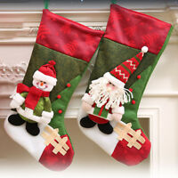 Personalised Christmas Santa Sack Gift Xmas Candy Socks Snowman Elk Stocking