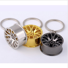 Fit Wheel Rim Keychain Creative Auto Part Car Keyring Key Chain Ring Key fob