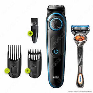 Braun BT5240 Regola Barba Uomo Taglia Capelli Beard Trimmer 5 e Rasoio Gillette