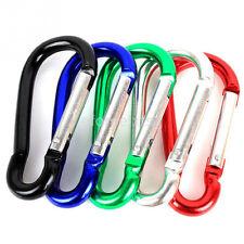5pcs/Pack Aluminum Alloy D Carabiner Spring Snap Clip Hooks Keychain Climbing