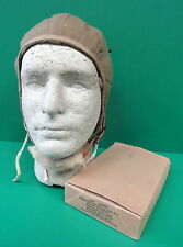 USAAF TYPE A-9 SUMMER FLYING HELMET- NEW IN ORIGINAL BOX-LARGE