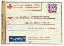 NED INDIE DUTCH INDIES 1940-12-11  RED CROSS-CENSOR PM-MAGELANG- TO SWITZERLAND