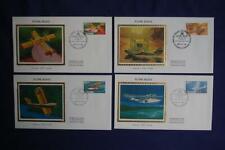 Canada Flying Boats Aircraft 17c & 35c Stamps 4 Fdcs Colorano Sc#Ca843-846 Ca068