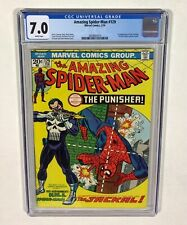 Amazing Spider-Man #129 CGC 7.0 KEY! WHITE PAGES! (1st Punisher!) 1974 Marvel