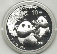 Chine 10 Yuan 2006 Ours Panda @ 1 Once Argent Pur @