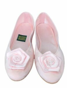 Vintage  Daniel Green Comfy Slippers Size 7 Light Pink bridal or Sweet sixteen.