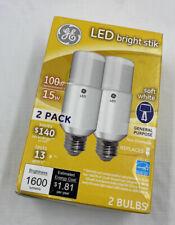 GE LED Bright Stick Soft White 100 Watt Replacement 2 Pack