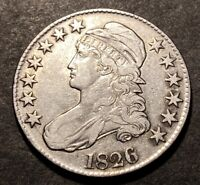 1826 Capped Bust Silver Half Dollar 50c O-108a Variety High Grade Details Coin