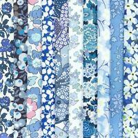 "NEW! - 10 Liberty Print Tana Lawn pieces, each min. 5"" x 5"" - *BLUES #6*"