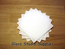 10 Sheets (10cm x 10cm) of 1mm Eco Fibre Paper for Kiln Fusing Glass (FP01)