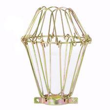 doré Câble Cage inspection pendentif clair industriel trouble Ampoule Lumière