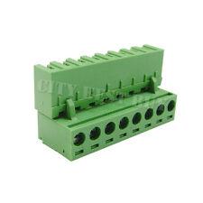 20 pcs 5.08mm Pitch 300V 16A 8P Poles PCB Screw Terminal Block Connector Green
