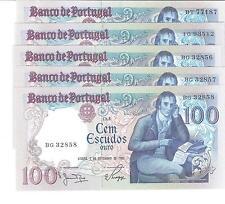 21202) PORTOGALLO POTUGAL 100 ESCUDOS DEL 1980 FDS UNC
